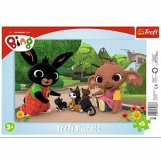 Trefl Bing - Játék a cicákkal keretes puzzle
