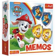 Trefl Memóriajáték - Mancs őrjárat  pajzs alakú lapkákkal