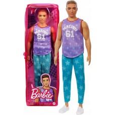 Barbie Fashionistas Boys - vörös hajú baba, csillagos nadrágban