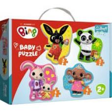 Trefl Baby Puzzle táskában - Első puzzle - Bing és barátai
