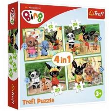 Trefl Bing boldog napja 4 az 1-ben puzzle