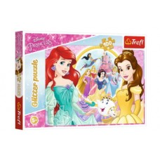 Trefl Disney Princess - Belle és Ariel -  Csillám puzzle