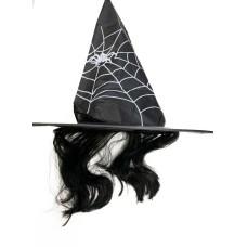 Kalap boszorkány hajas pókhálós