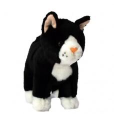 Plüss fekete-fehér cica