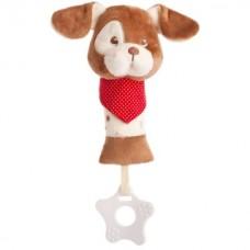 Bear Toys plüss baby kutya  csörgő