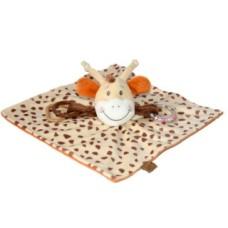 Bear Toys plüss baby zsiráf kendő csörgő 25cm