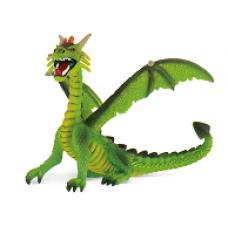Bullyland ülő sárkány zöld játékfigura