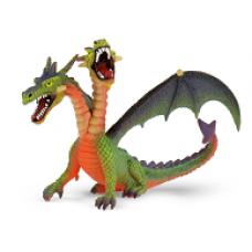 Bullyland Kétfejű sárkány zöld játékfigura