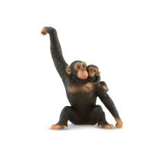 Bullyland  Csimpánz kölykével  játékfigura