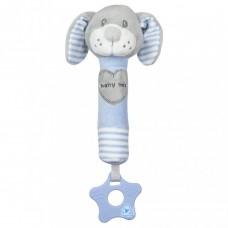 Baby Mix sípolós plüss játék rágókával kutya