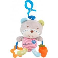 Baby Mix plüss játékcsörgő rágoka hanggal  medve
