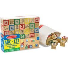 Melissa & Doug Fa készségfejlesztő játék, ABC és számok